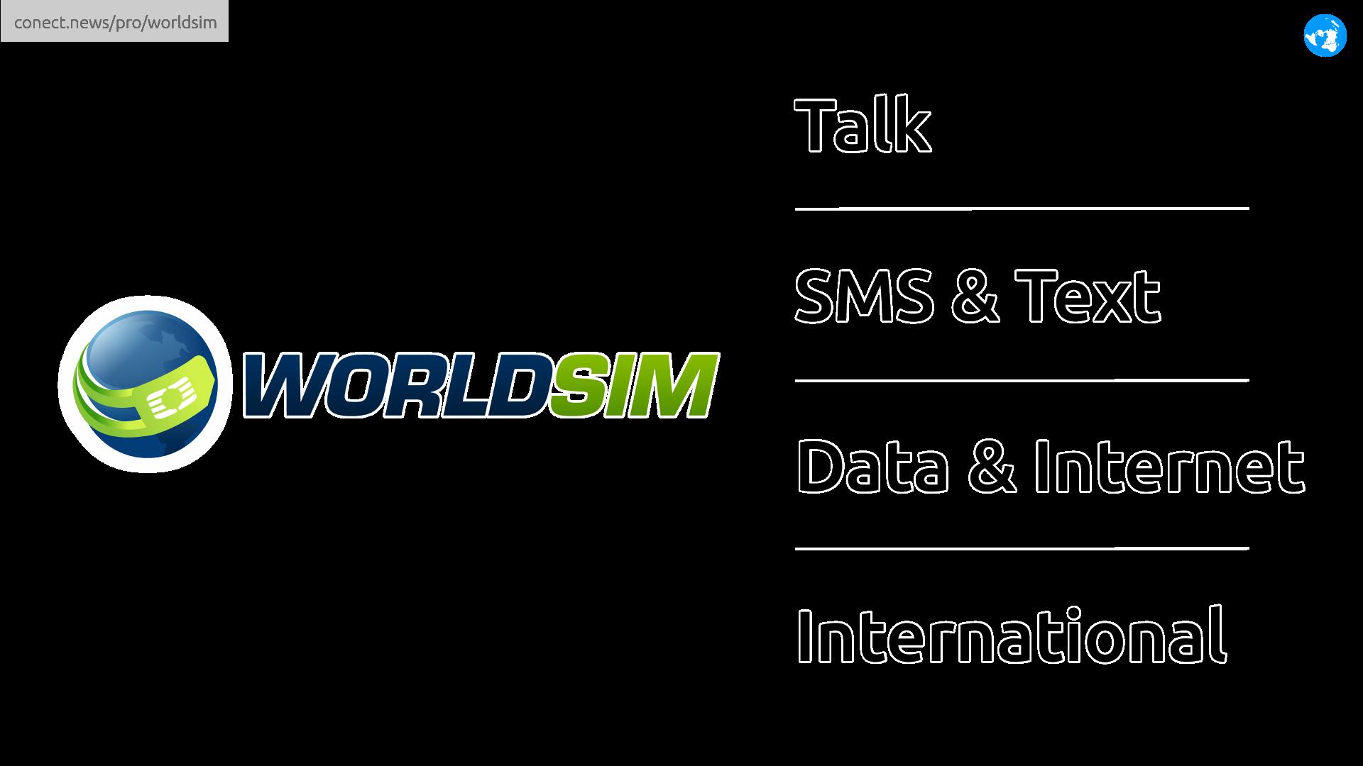 WorldSIM international mobile @conect_news