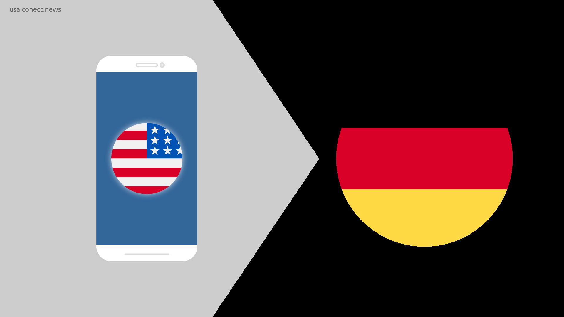 USA nach Deutschland - Europa